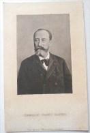 RARE PHOTO PAUL KLEMANN PORTRAIT DE CAMILLE SAINT ST SAËNS Musicien Voyagé 1901 TIMBRE Cachet Liege Depart - Music And Musicians