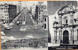 Lima Peru Old Postcard Mailed