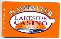 Lakeside Casino, Osceola, IA,  U.S.A. BLANK older used slot or member�s card,  lakeside-2blank