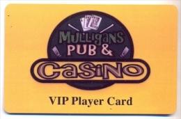 Mulligans Pub & Casino, U.S.A., older BLANK used slot or player�s card,  mulligans-1blank