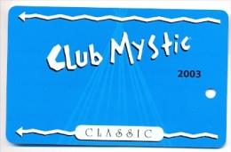 Mystic Lake Casino, Prior Lake, MN, U.S.A., older BLANK used slot or player�s card, mysticlake-2blank