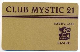 Mystic Lake Casino, Prior Lake, MN, U.S.A., older BLANK used slot or player�s card, mysticlake-6blank