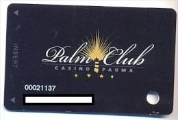 Pauma Casino, Pauma Valley, CA,  U.S.A., older used slot card, # pauma-4