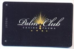 Pauma Casino, Pauma Valley, CA,  U.S.A., older BLANK used slot card, # pauma-4blank