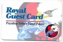 Puyallup Tribe's Bingo Place, Tacoma, WA  U.S.A., older BLANK  used player�s card, # puyallup-1blank