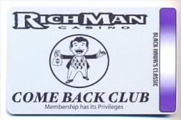 RichMan Casino, Black Hawk, CO, older BLANK  used slot or players card, # richman-1