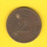 GERMANY  2 RENTENPFENNIG 1924 A (KM # 31) - [ 3] 1918-1933 : Weimar Republic