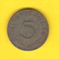 GERMANY  5 REICHSPFENNIG 1941 J (KM # 100) - 5 Reichspfennig