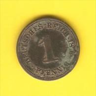 GERMANY  1 PFENNIG 1875 A (KM # 1) - [ 2] 1871-1918 : German Empire