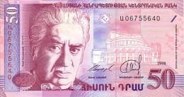 ARMENIE 50 Dram  Daté De 1998   Pick 41      ***** BILLET  NEUF ***** - Arménie