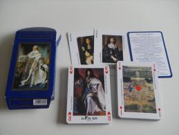 jeu de 52 cartes � jouer - roi de france - rois - histoire