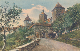 Rothenburg O.T.  Den..Kobollzellertor - Aussen, Rein Photogr. Dreifarben-Lichtdruck-Kunstler-Postkarte - Rothenburg O. D. Tauber