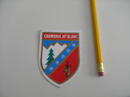 Autocollant  - Blason CHAMONIX MONT BLANC - Aufkleber