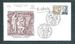 Enveloppe Premier Jour  ( Dédicacée ) Avec Le N°1600    10 Mai 1969 - Documents De La Poste