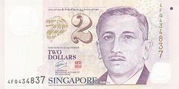 Singapour, 2 Dollars, Type Président Encik Yusof Bin Ishak - Singapour