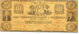 [#44723] Etats-Unis, Obsol�tes, South Carolina, Commercial Bank, 10 Dollars 11.10.1853