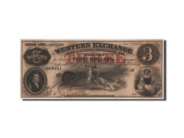 Etats-Unis, Obsolètes, Omaha City, Western Exchange, 3 Dollars 2.11.1857 - Bankbiljetten