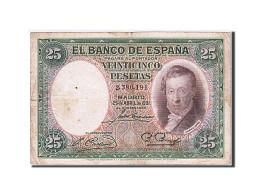 Espagne, 25 Pesetas, Type Vicente Lopez - 1-2-5-25 Pesetas