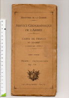 39 SALINS LES BAINS SERVICE GEOGRAPHIQUE DE L'ARMEE MINISTERE DE LA GUERRE TYPE 1922 - Cartes