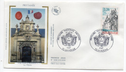 """1987--enveloppe FDC """"Soie"""" --PRYTANEE-La Flèche--72---Sarthe--cachet  La Flèche--72 - FDC"""