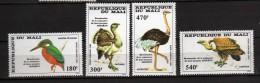 MALI **  -1985 - Oiseaux  Timbre Aérien PA. Yvert 503 à 506 - Mali (1959-...)