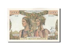 5000 Francs Type Terre Et Mer - 1871-1952 Gedurende De XXste In Omloop