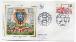 """1987--enveloppe FDC """"Soie"""" -Congrès Philatélique--LENS--blason--cachet  LENS--62 - FDC"""