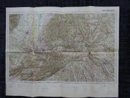 68 MULHOUSE Carte Géographique  CARTE DE FRANCE ET DES FRONTIERES TYPE 1912  N° 36 - Cartes Géographiques