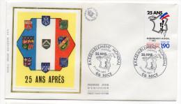 "1987--enveloppe FDC ""Soie"" -25° Anniv. Rassemblement Mondial--cachet NICE - 06 - FDC"