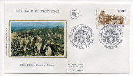 """1987--enveloppe FDC """"Soie"""" ---LES BAUX DE PROVENCE--cachet LES BAUX--13 - FDC"""