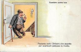 [DC4736] CARTOLINA - UMORISTICA - GUARDARE CONTRO LUCE - Non Viaggiata - Old Postcard - Humor