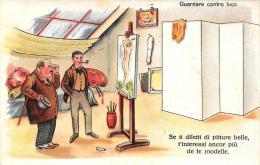 [DC4737] CARTOLINA - UMORISTICA - GUARDARE CONTRO LUCE - Non Viaggiata - Old Postcard - Humor
