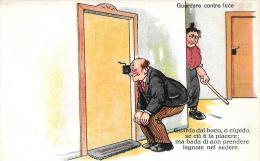 [DC4739] CARTOLINA - UMORISTICA - GUARDARE CONTRO LUCE - Non Viaggiata - Old Postcard - Humor
