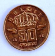 BELGIQUE  50 Cents 1976 Entre TB Et B - 03. 50 Centimes