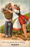 Villes Avec Système Dépliant – Vichy ( Vignes, Vendanges ) - Vichy