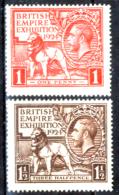 Gran-Bretagna-260 - 1924 - Unificato, N.171/72 (++) MNH - Privi Di Difetti Occulti. - 1902-1951 (Re)