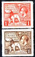 Gran-Bretagna-261 - 1924 - Unificato, N.171/72 (+) Hinged - Privi Di Difetti Occulti. - 1902-1951 (Re)
