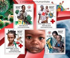 CA12110a Central Africa 2012 Red Cross Of France MNH Mini Sheet - Zentralafrik. Republik