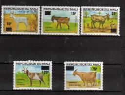 MALI **  -x-1984 - Caprins Du Mali - Surchargés En Francs.  Yvert  494 à 498 - Mali (1959-...)