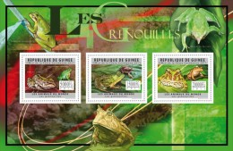 GU11613a GUINEA (Guinee) 2011 Frogs MNH Mini Sheet - Guinea (1958-...)