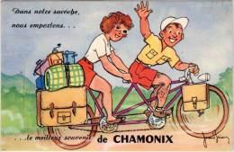 Villes Avec Système Dépliant – Chamonix Vélo, Tandem, Signée Jean Brian - Chamonix-Mont-Blanc
