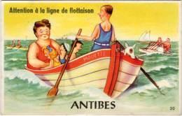 Villes Avec Système Dépliant – Antibes, Bateau « Mouette » - Antibes