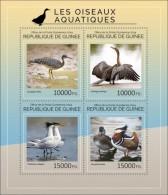 GU14423a GUINEA (Guinee) 2014 Water Birds MNH Mini Sheet - Guinée (1958-...)