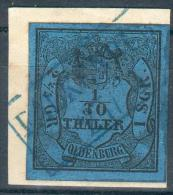 Oldenburg, Briefstück MiNr.2III,Falkenburg Seltener, Pracht - Oldenburg