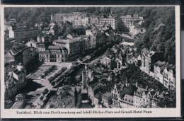 Karlsbad - Blick Vom Dreikreuzberg Auf Adolf Hitler Platz Und Grand Hotel Pupp - Karlovy Vary - Boehmen Und Maehren
