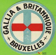 voyo  HOTEL GALLIA & BRITANNIQUE Bruxelles Belgium Hotel label 1970s Vintage