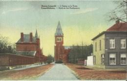 Bourg - Léopold -- L' Eglise  Et  La  Poste.     (2 Scans) - Leopoldsburg
