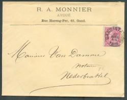 N°46 - 10 Rose Obl. Sc GAND (STATION) Sur Enveloppe Datée Du 22 Avril 1888vers Nederbrakel. - 10657 - 1884-1891 Léopold II