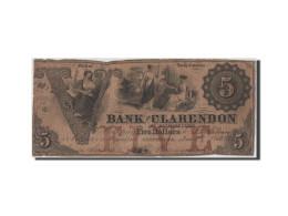 [#44803] Etats-Unis, Obsol�tes, North Carolina, Bank of Clarendon, 5 Dollars 1.11.1855
