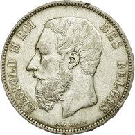 Monnaie, Belgique, Leopold II, 5 Francs, 5 Frank, 1868, TTB, Argent, KM:24 - 1865-1909: Leopoldo II